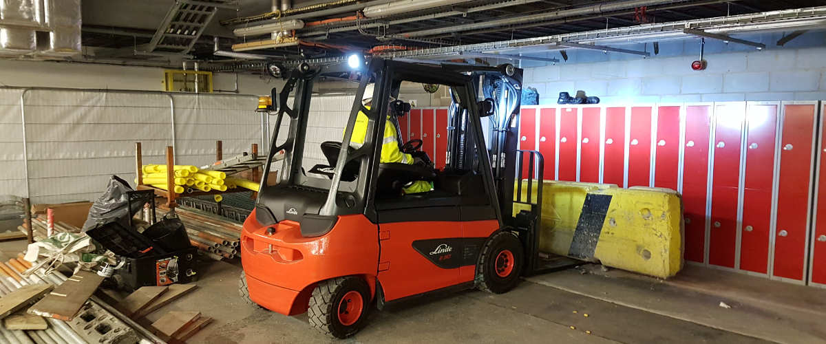 Airside Forklift Hire - Moving Barriers