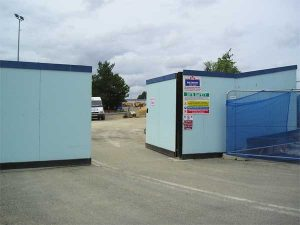 Hoarding system used with TVCB barriers