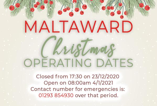Christmas Operating times