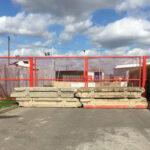 Concrete Barriers Blocking a Gate