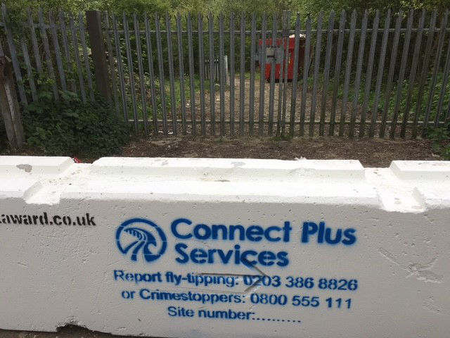 Concrete barrier - Site 14 M25 Connect J4