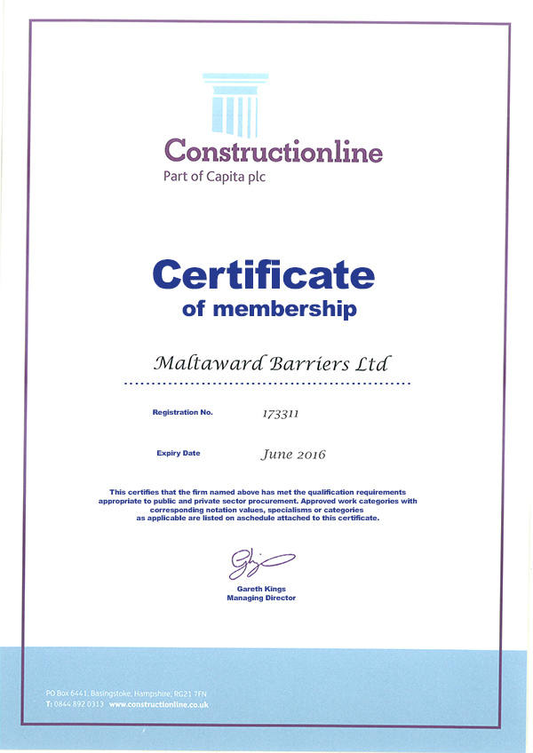 Maltaward Constructionline Certification