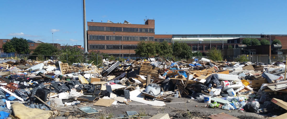 Image showing an example of Fly Tipping