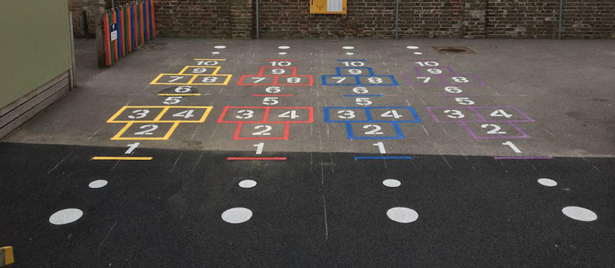 School Line Paining - Hopscotch