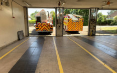 Horsham Fire Station - Line Painting 1