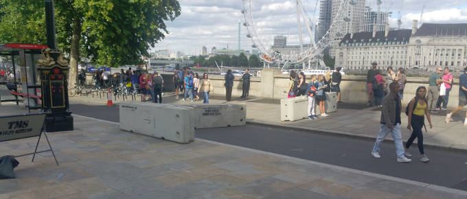 Maltaward Concrete Barriers Next to London Eye