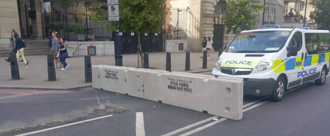 Temporary Concrete Barrier installation