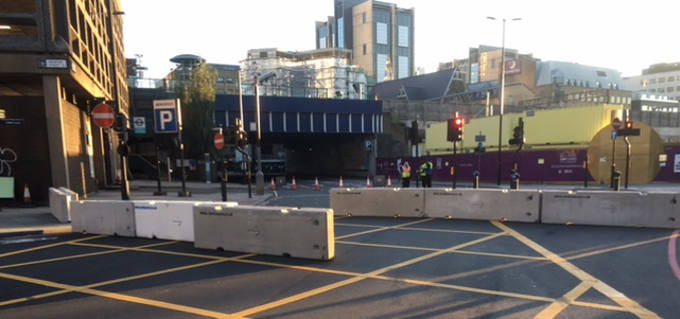 Maltaward Concrete Barriers in Central London