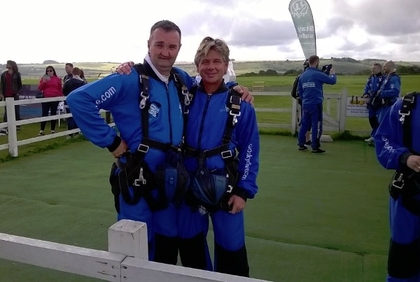 Jim and Tony Charity Skydive