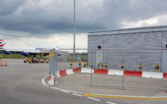 MASS Safety Barriers set up at an airport