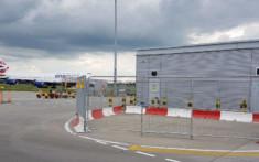 MASS Safety Barriers set up at an airport