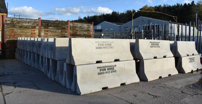 Interlocking Jersey Concrete Barriers