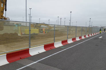 Mass Safety Barriers Set up Alongside a Road to Block a Construction Site - Homepage Image