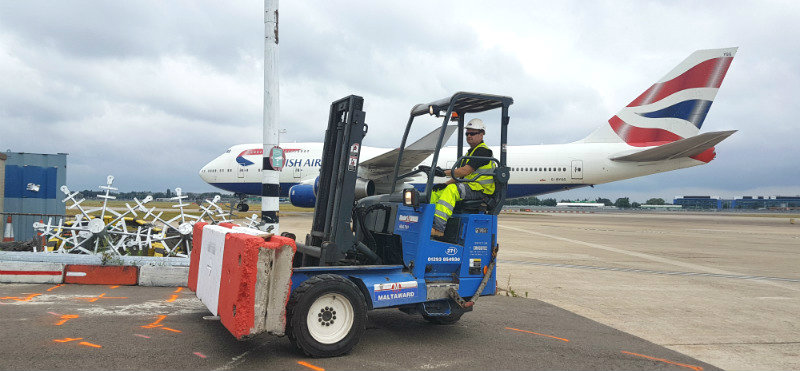 Airside Services - Moving and Installing Barriers