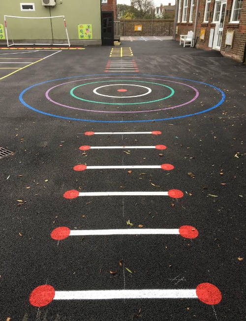 Playground game line markings
