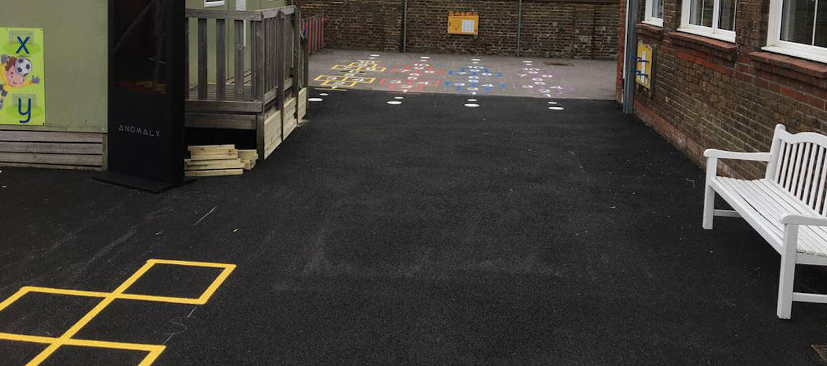 School playground line markings