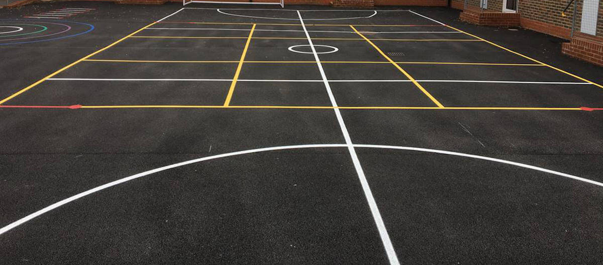 School playground line marking