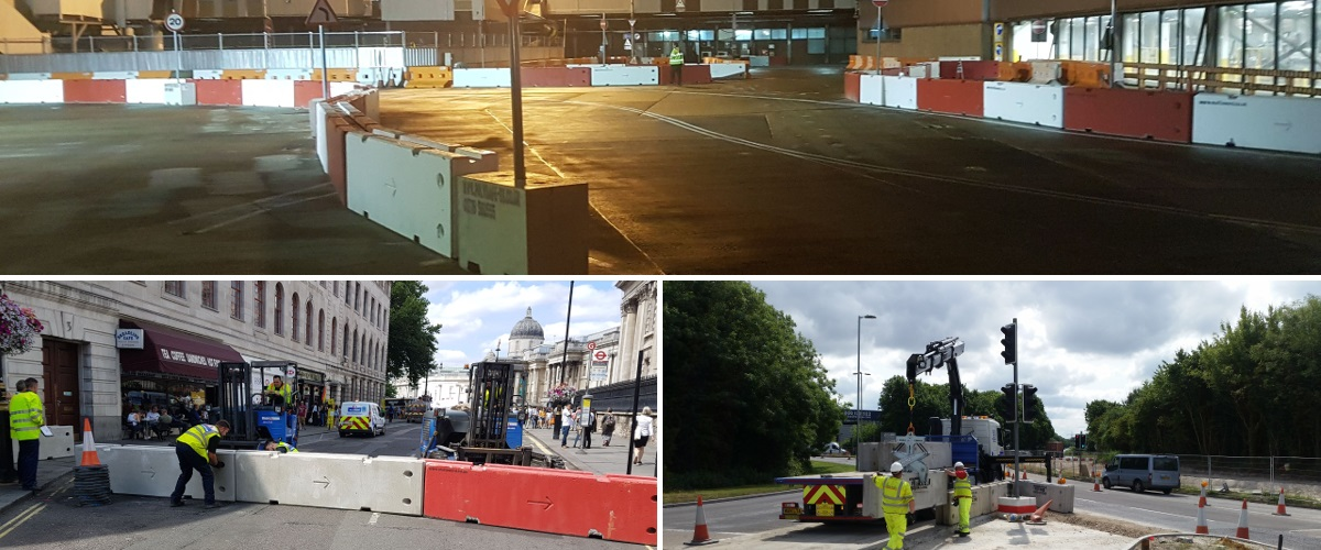 Temporary Vertical Concrete Barrier Traffic Management Hero Image