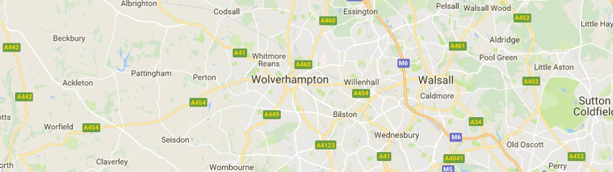 Map of Wolverhampton