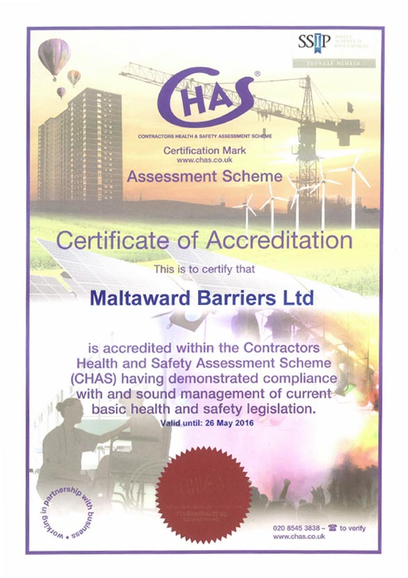 CHAS 2015 certificate