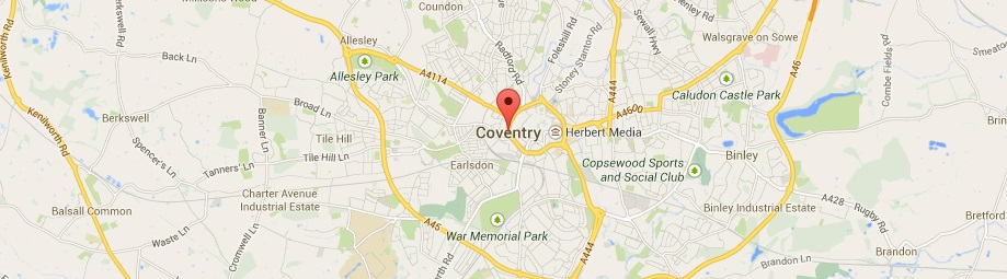 Map of Coventry