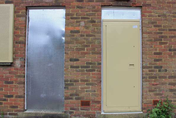 Steel Security Doors set up to prevent access