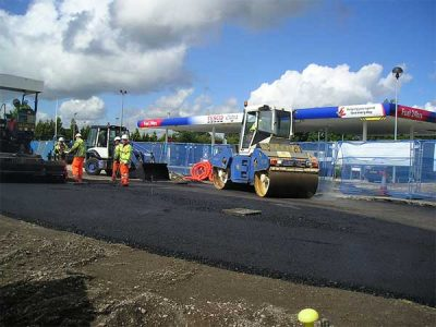 Road surfacing project for Tesco