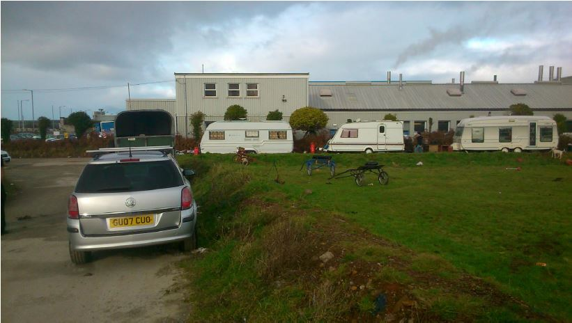 Traveller site in Redruth